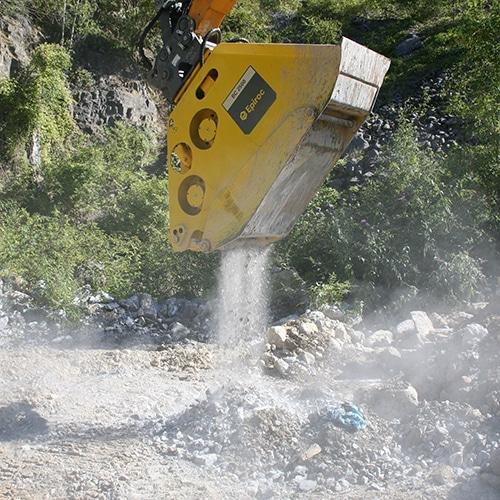 The Epiroc hydraulic bucket crusher BC 2500